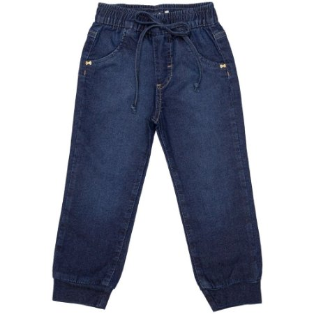 Calça Infantil Look Jeans Jogger Jeans