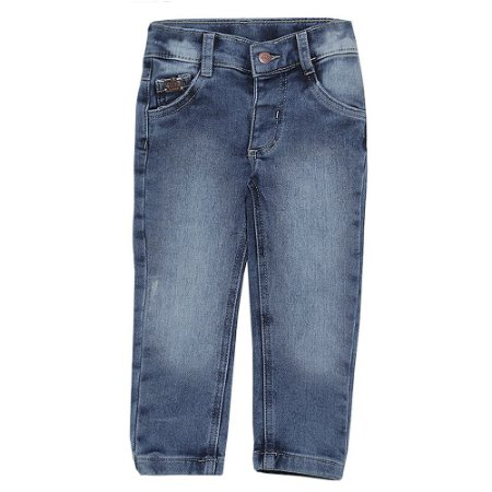Calça Look Jeans Skinny Moletom Jeans