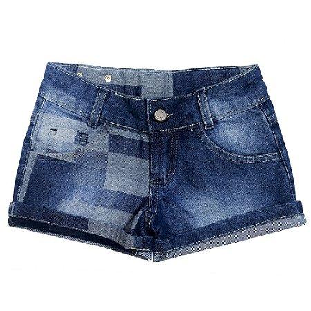 Short Look Jeans Barra Dobrada Jeans