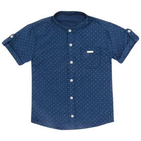 Camisa Look Jeans Gravataria Azul