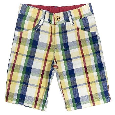 Short Look Jeans Sarja Xadrez