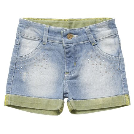 Short Look Jeans Collor Jeans Azul