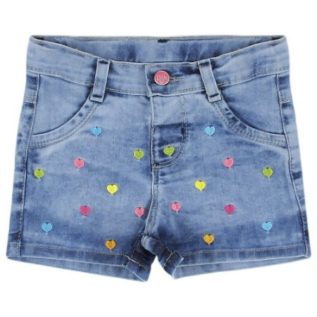 Shorts Look Jeans Bordado Jeans