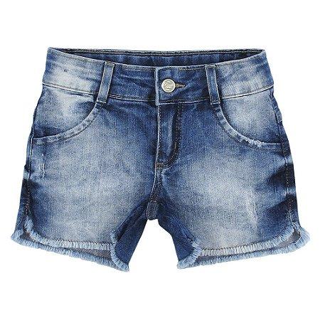 Shorts Look Jeans Barra Desfiada Jeans