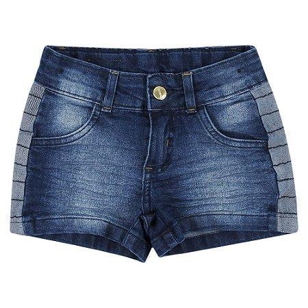 Shorts PopStar Detalhe Jeans