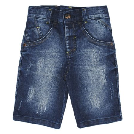 Shorts Look Jeans Recorte Jeans