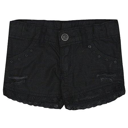 Shorts Look Jeans Sarja Preto