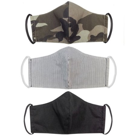 Kit 3 Máscaras Bico de Pato Feminino Adulto Tecido Estampado