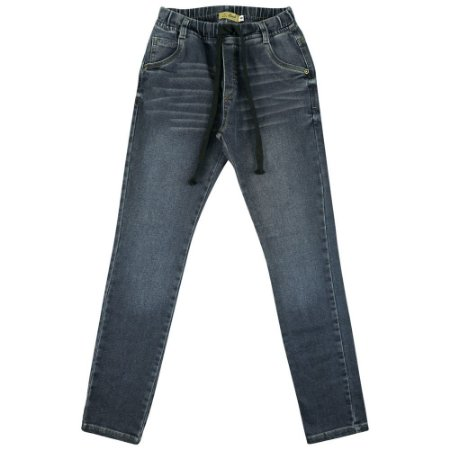 Calça Look Jeans Moletom Jeans