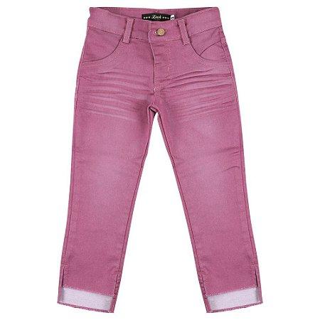 Calça Look Jeans Skinny Pink