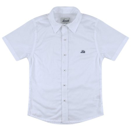 Camisa Look Jeans Maquinetada Branca
