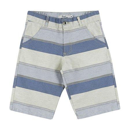 Bermuda Look Jeans Sarja Listrada