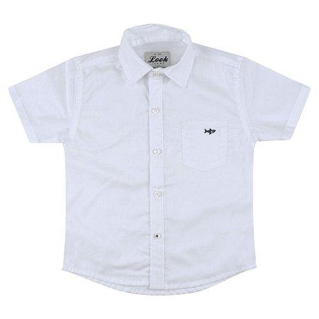 Camisa Look Jeans Básica Branca