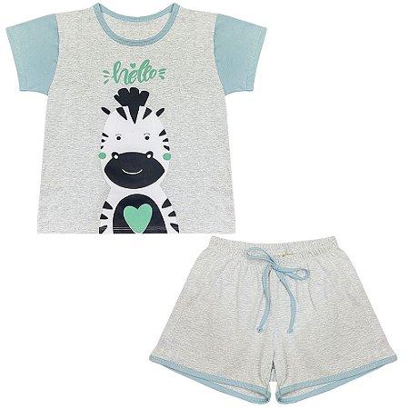 Pijama Juvenil Look Jeans Zebra Curto