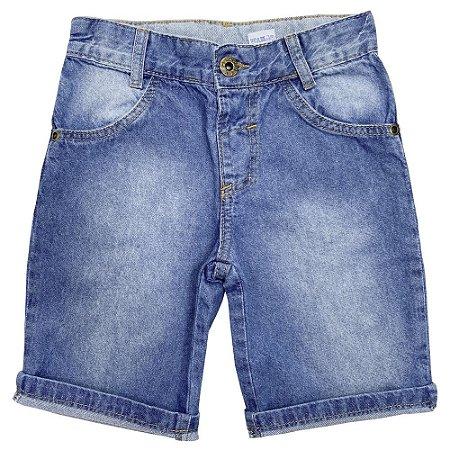 Shorts Infantil Popstar Barra Dobrada Jeans
