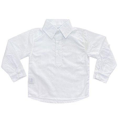 Camisa Infantil Look Jeans Bata Branca