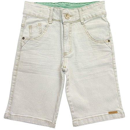 Bermuda Juvenil Look Jeans Delavê Jeans
