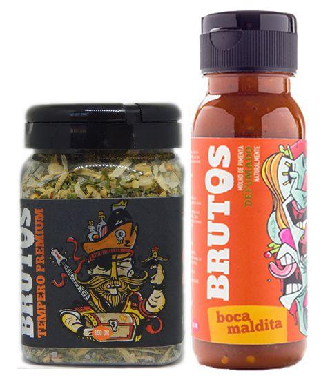 Kit Molho de Pimenta e Tempero para Churrasco - Boca Maldita (Defumado Naturalmente) e Zulmiro (Tempero Seco para churrasco)