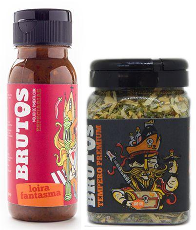 Kit Molho de Pimenta e Tempero para Churrasco - Loira Fantasma (Pimenta com especiarias) e Zulmiro (Tempero Seco para churrasco)