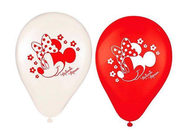 Balão de Látex Impresso 9 polegadas Red Minnie