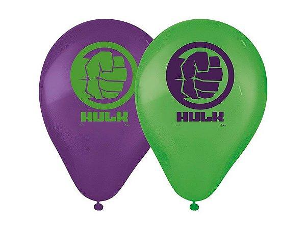 Balão de Látex Impresso 9 Polegadas Hulk