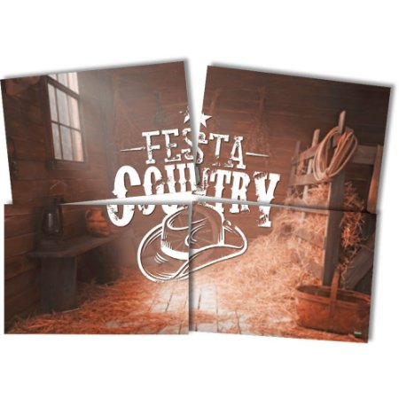Painel Decorativo Festcolor Festa Country
