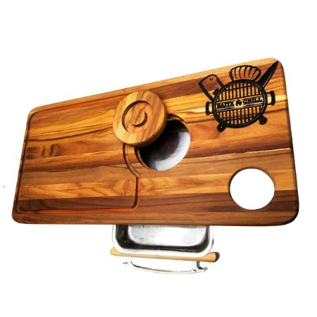 Tábua Para Churrasco Personalizada com Gaveta e Madeira Nobre – Baita Grill