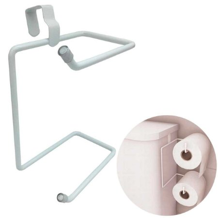Porta Papel Higiênico Duplo Suporte Caixa Acoplada Descarga Branco