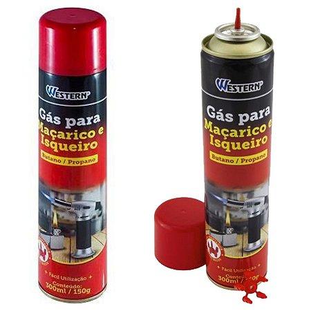 Gás Para Maçarico Butano Propano 300ml Com Bico Adaptador