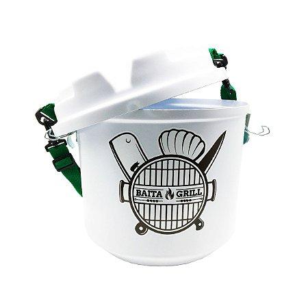 Cooler Térmico Barril Chopp Cerveja Alça Removível Prático 5 Litros Baita Grill