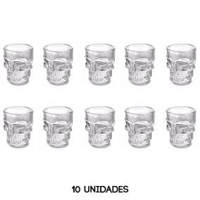 Copo Caveira Shot 10 Unidades Whisky Vodka Tequila 50ml