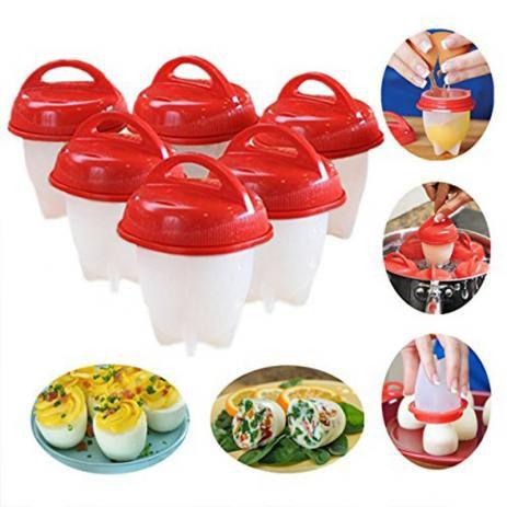 Conjunto de Forma Copo De Silicone Para Cozinhar Ovo 6 Unidades Magic Egg