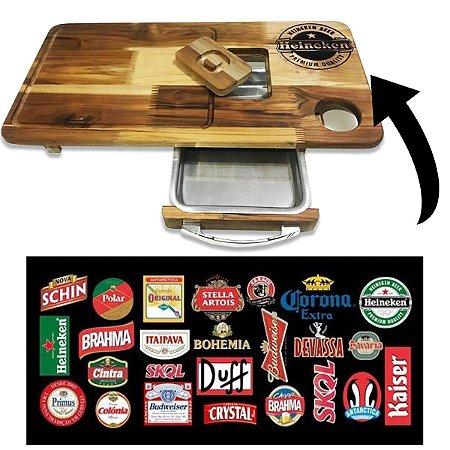 Tábua De Carne para Churrasco Personalizada Coloque Sua Cerveja Preferida