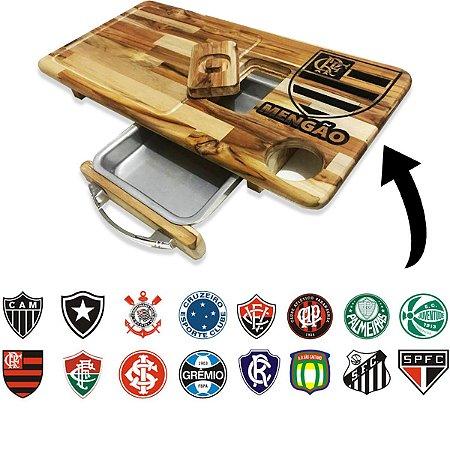Tábua De Carne Para Churrasco Personalizada Time Futebol Brasileiro Grave seu Nome