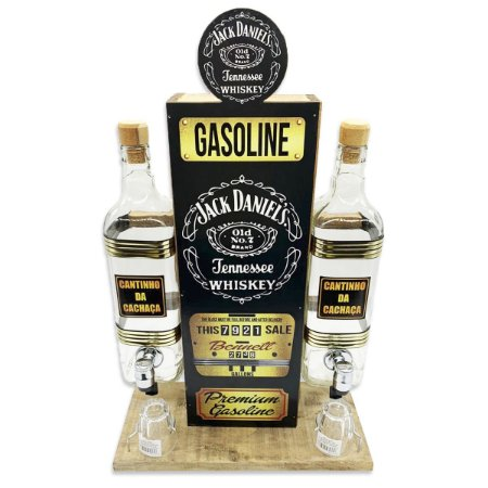 Pingômetro Posto de Gasolina com 2 Garrafas - Personalizado Jack Daniel's