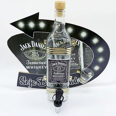 Pingômetro Parede Quadro Modelo Premium com 1 Garrafa 1 Litro  - Personalizado Jack Daniels