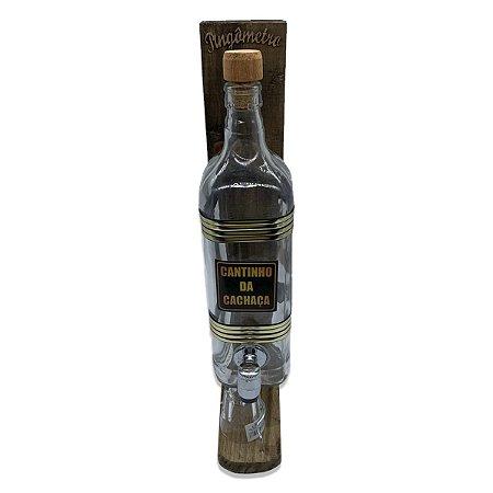 Pingômetro  Decorativo com 1 Garrafa 1 Litro  - Personalizado Cantinho da Cachaça
