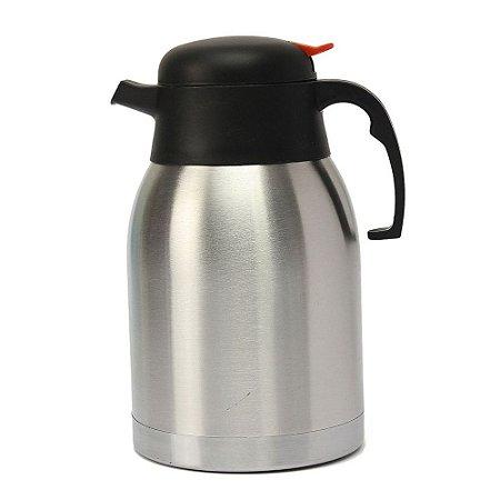 Garrafa Térmica Inox 1 Litro Fechamento a Vácuo para Café Chá Resistente