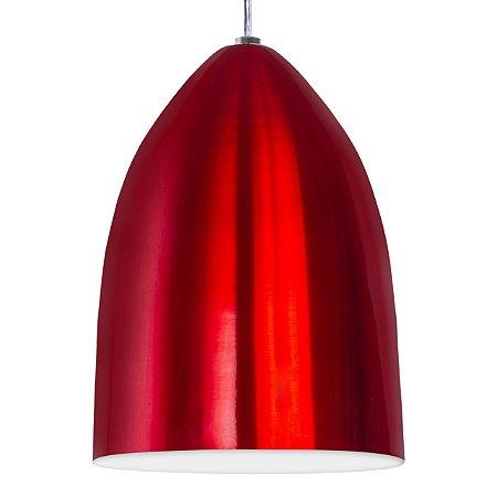 Luminária Alumínio Modelo Bala Design Moderno Com Cabo e Canopla de Teto - 01 Unidade