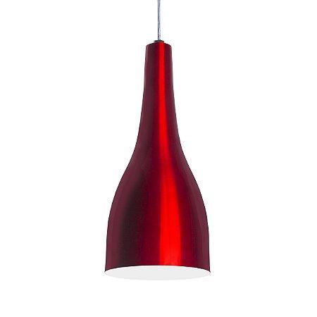 Luminária Alumínio Modelo Garrafa Design Moderno Com Cabo e Canopla de Teto - 01 Unidade