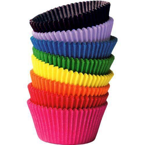 Forminha De Cupcake Silicone Jogo Com 12 Peças Coloridas