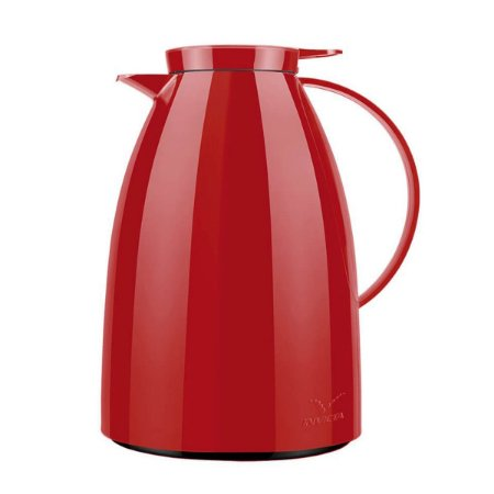 Garrafa De Café Térmica Bule Viena Modelo Gatilho Vermelha 1 Litro Invicta