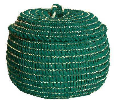 cesto de palha de carnaúba verde