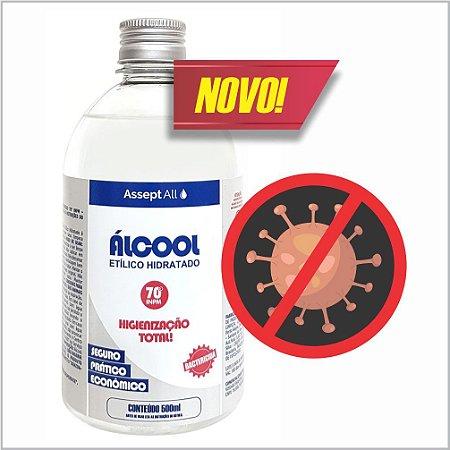 Álcool 70º Etílico Hidratado Líquido (Refil) - 500ml