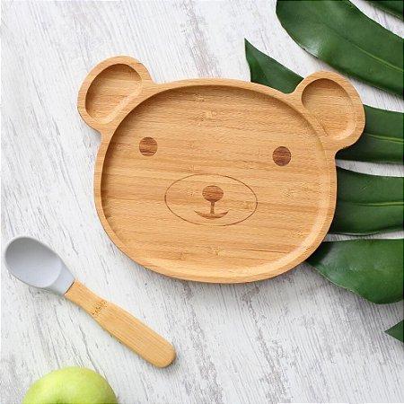 Kit de Alimentação Urso Bambu com 2 Peças - A/BABY