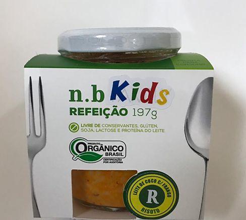 NB Kids Orgânica - Risoto de frango com leite de coco