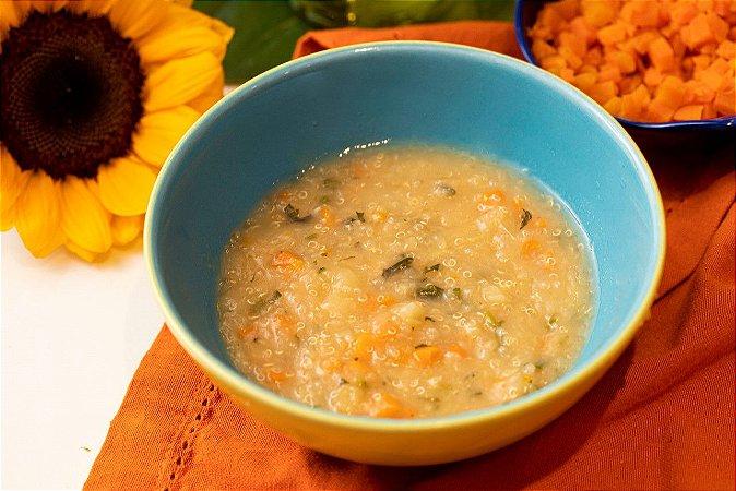 Sopinha vegana com legumes e quinoa - Jardineira