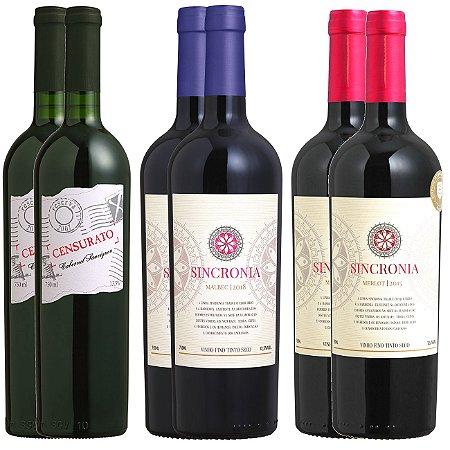 Kit vinhos para o inverno - 6 garrafas