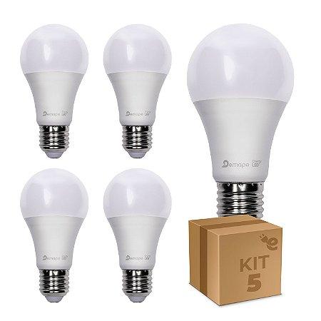 Kit 5 Lâmpada LED Bulbo A60 4,8W Branco Frio