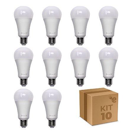 Kit 10 Lâmpada LED Bulbo A65 12W Branco Frio